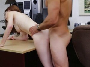 Bigtitted pawnshop ginger pussyfuck after bj