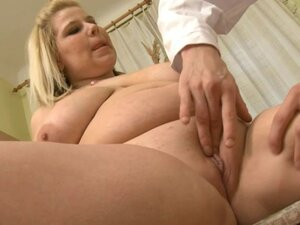 Blonde BBW with Huge-Boobs fucked by young Doctor