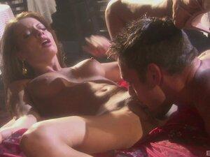 Vanessa Lane and Jasmine Byrne get their wet