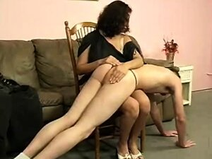 She punishes her man for lack of sex by spanking