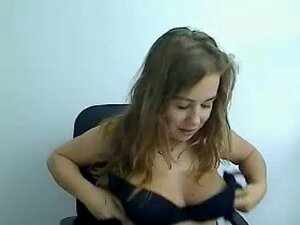 Teen girl shows her big tits