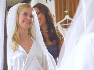 Horny Anissa and lovely bride Violette fucked by