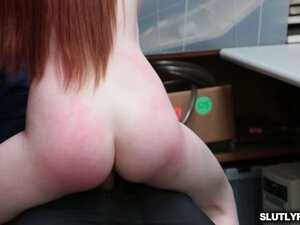 Krystal Orchid rides her pussy on top of the LP