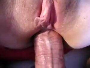 Closeup view of tight anus being penetrated,