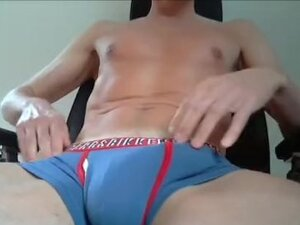 Showing Big Bulge And Jerking Off