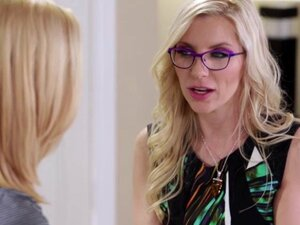 Blonde lesbian stepmom Ashley Fires uses her