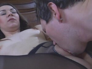PantyhoseLine Video: Crystal and Rolf, Crystal is