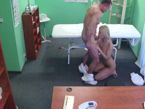Sexy blonde fucked in hospital