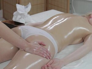 Massage Rooms Innocent young blonde has deep