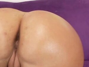 Olivia being drilled in doggy style pose
