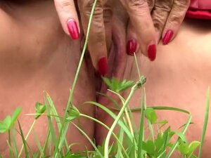 Smoking Leather Lady with Red Nails - Fuck my