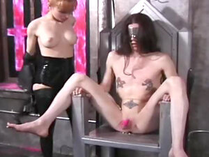 Latex mistress and sub girl abused lustily