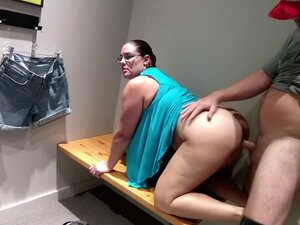 Hot amateur milf creampied in Outlet Mall dressing