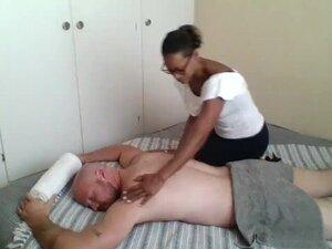 Ebony masseuse paid to give happy ending massage