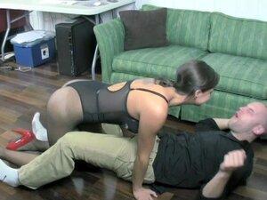 Sadie Holmes & Jerks Off her New Coworker,