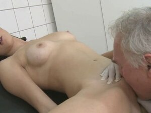 Passionate girl is being very naughty in a doctors