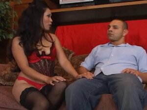 Lingerie wearing Asian bitch teasing a dude and