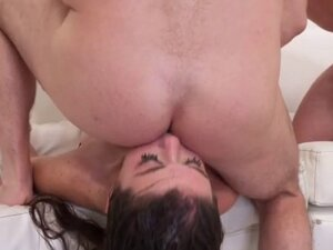 Brunette Dirtbag Slapped Around And Fucked Very