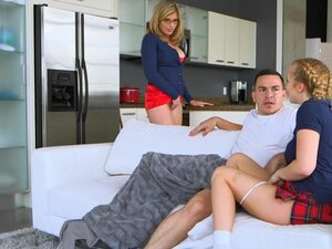 Cory Chase and Bailey Brooke hot threesome session