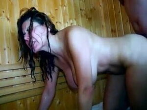 Sauna fuck with girlfriend