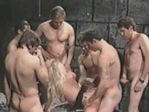 Gangbang Archive vintage group sex party with six