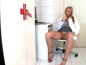 Hot Slutty Blonde Nurse Jessy Brown Kneels for the