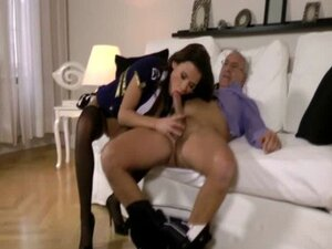 Teen euro amateur sucks old man dick in high def
