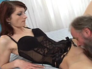 Cindy the naughty bitch gets fucked by dirty old