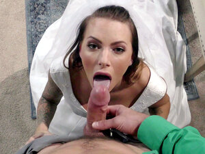Horny bride Juelz Ventura sucks wedding dress