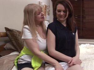 Blonde Mature Lesbian & Her Girlfriend,