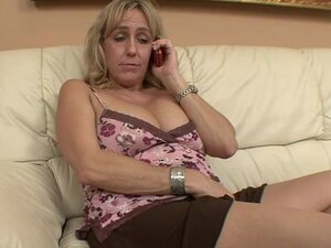 BBC inside a curvy blonde mature