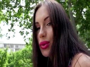 Hot babe Sasha Rose show wet Euro pussy for big
