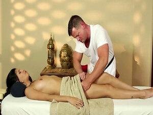Very tricky massage room of cute masseur