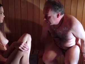 Amazing Beautiful Teen is Fucking an Old Man in