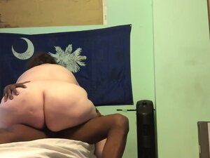 Bbw riding my cock till I cum inside her, Nutted