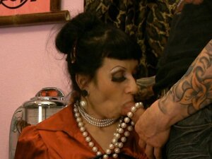 busty satin MILF distress ripped clothes JOI pussy