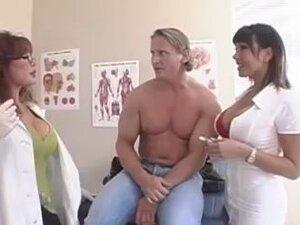 Patient Fucks Hit Busty MILF Nurse & Doctor,
