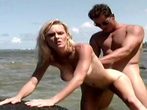 Dale DaBone sucks dick of Phoenix Ray on the beach