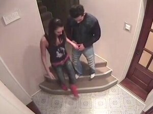 Explosive sex action at the stairs!
