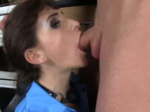 LUKE HARDY - Ball-Gagged Cutie Adreena Sucks Big