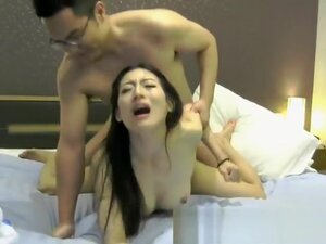 Chinese amateur girl does a public blowjob,