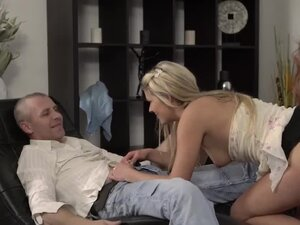 Old man toys with pussy and cock She is so