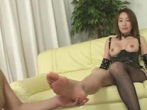 Mistress spits on slave's mouth right after she