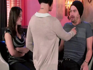 Shay Fox blows a perv in frong of his confused