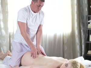 Massage Rooms Pale skinned natural tits beauty