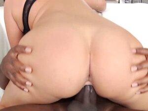 Titfucked interracial lover enjoys cockriding