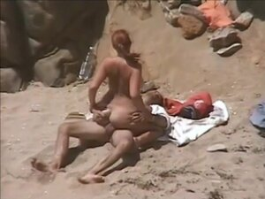 Sex on the beach with hot redhead, While I was on