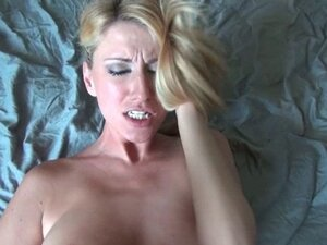 Busty blonde in lingerie banged hard in her ass