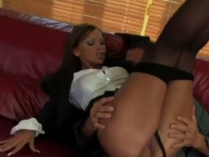 Classy bitch gets nasty being fucked