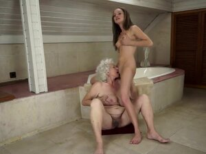 Old-young sex between Vicky Braun and Norma is
